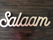 Load image into Gallery viewer, Salaam Table Sign in Rose Gold
