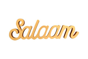 Salaam Table Sign in Rose Gold