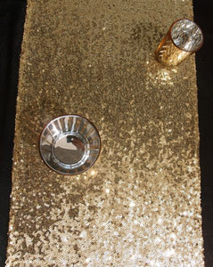 Sequin Table Runners In Gold / Silver