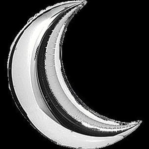 "Gold/Silver Crescent Mylar 36"" Balloon"