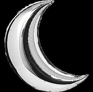 Gold/Silver Crescent Mylar 36