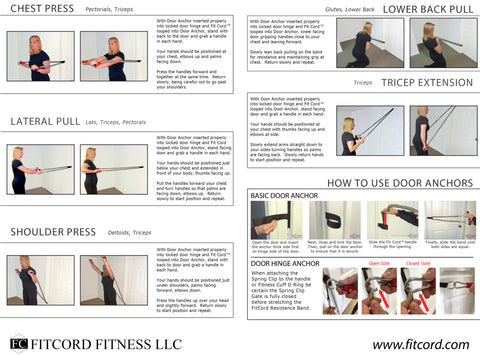 Free Exercise routing guide for resistance band workout to lose weight, tone your body, gain mobility and general exercise