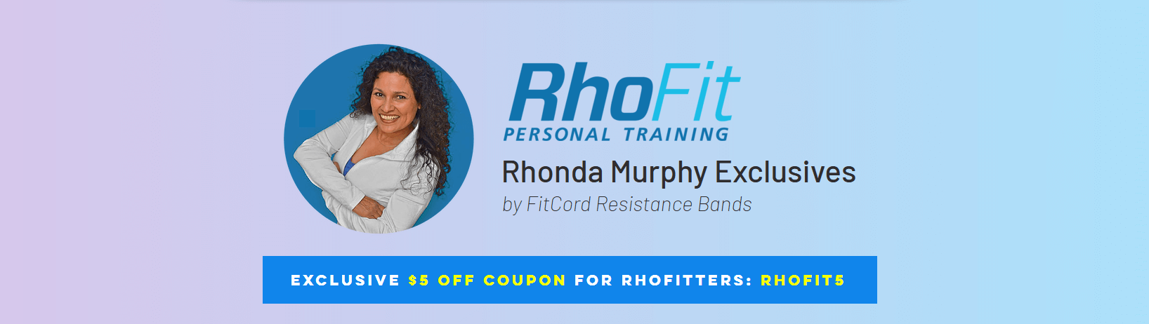 RhoFit Personal Training Exclusives with FitCord Resistance Bands Header
