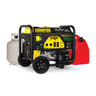 Champion 7500-Watt Dual Fuel Portable Generator with Electric Start 100165