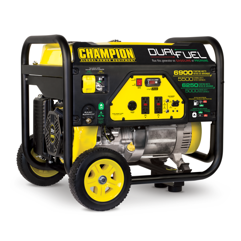 Champion 5500-Watt Dual Fuel Portable Generator with Wheel Kit 100231