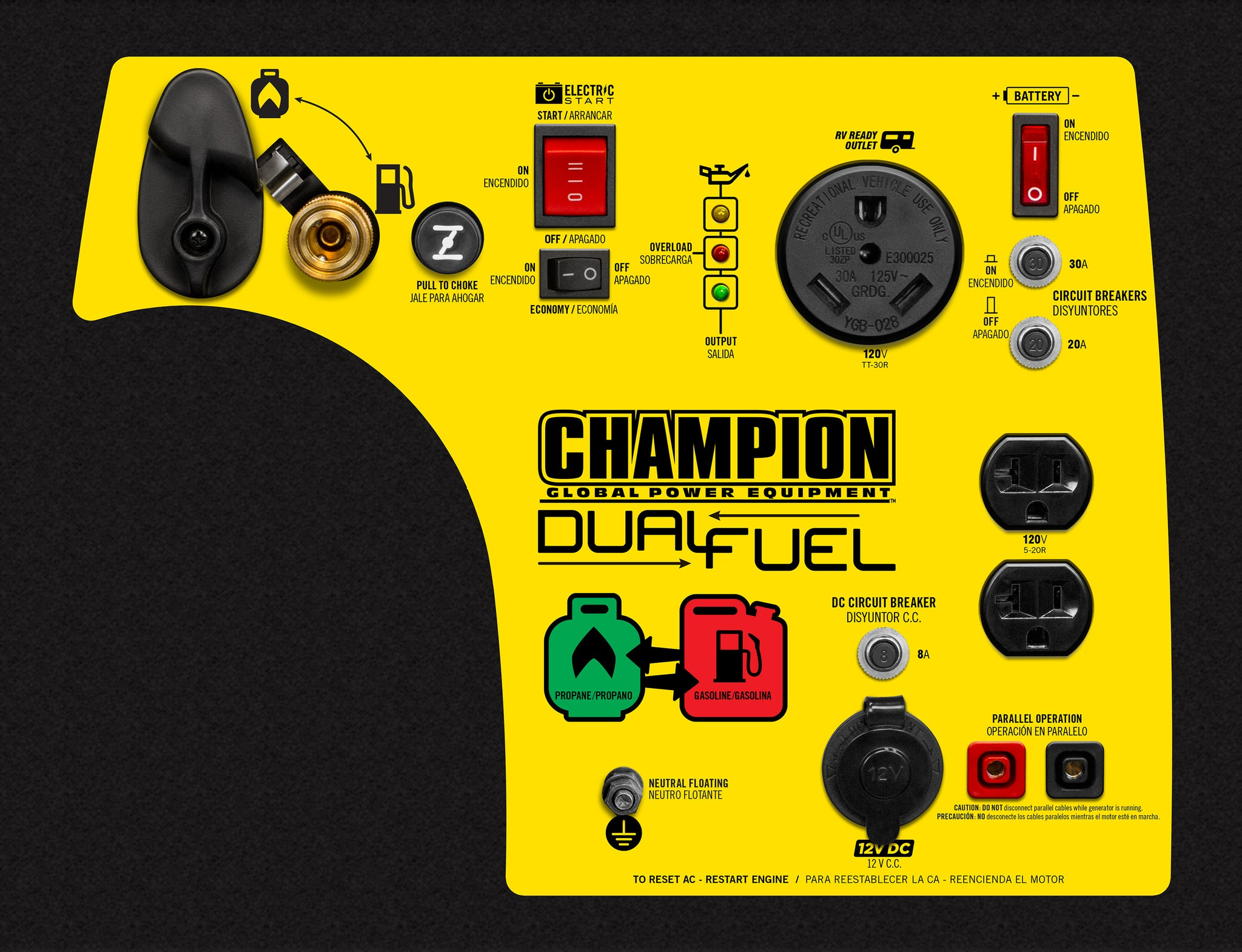 Champion 3400 Watt Dual Fuel Rv Ready Portable Inverter Generator How Does An Work In With Electric Start 100263