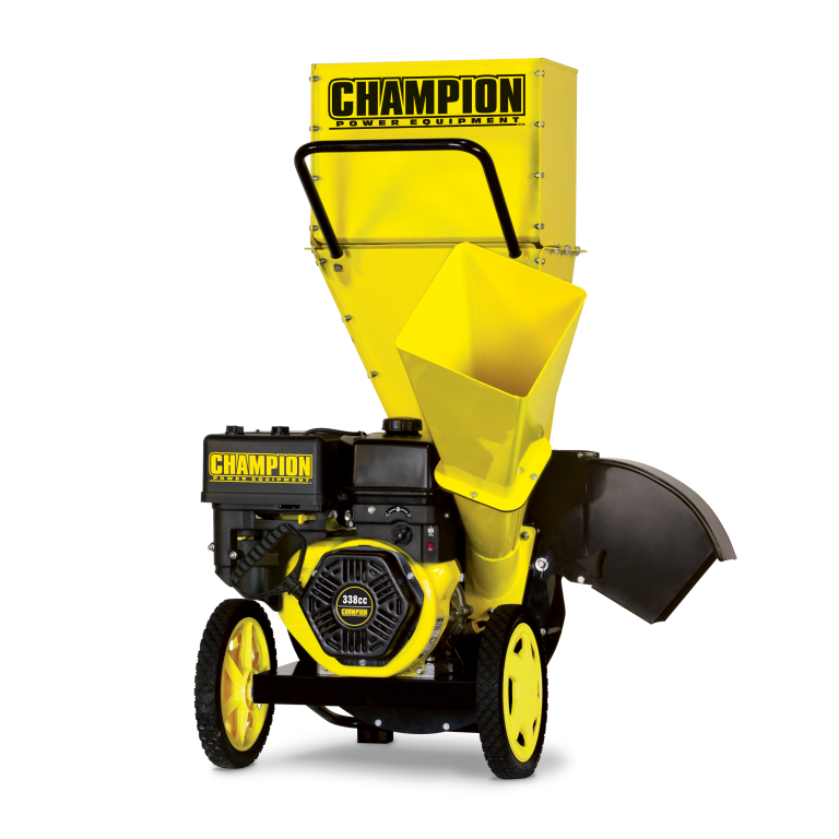 Champion 3-Inch Portable Chipper-Shredder with Collection Bag