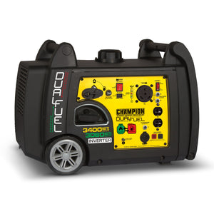 Champion 3400-Watt Dual Fuel RV Ready Portable Inverter Generator with Electric Start 100263