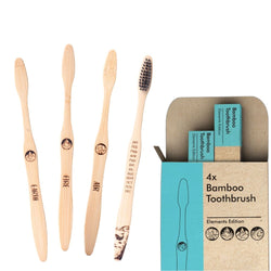 Bamboo Toothbrush Elements Edition 4x
