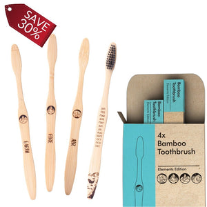 4x Elements Bamboo Toothbrush - 6 Packs
