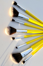 Load image into Gallery viewer, Travel kit yellow Makeup brushes