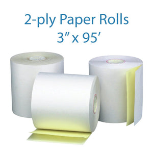 "2-PLY WHITE/YELLOW ROLL - 3"" X 95'"