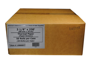 "Thermal POS 3 1/8"" x 230' 50ct Case (Clover Register, Star & Epson)"