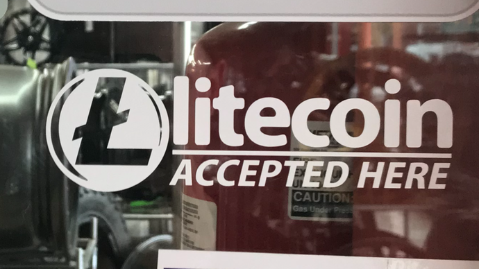 Litecoin Accepted Here Decal