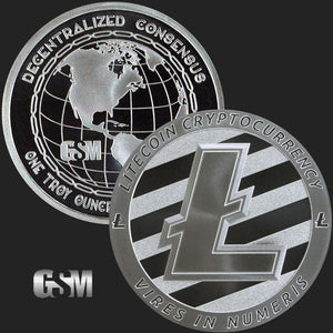 1 oz Litecoin Silver Bullion Round .999 Fine (Lot of 3)