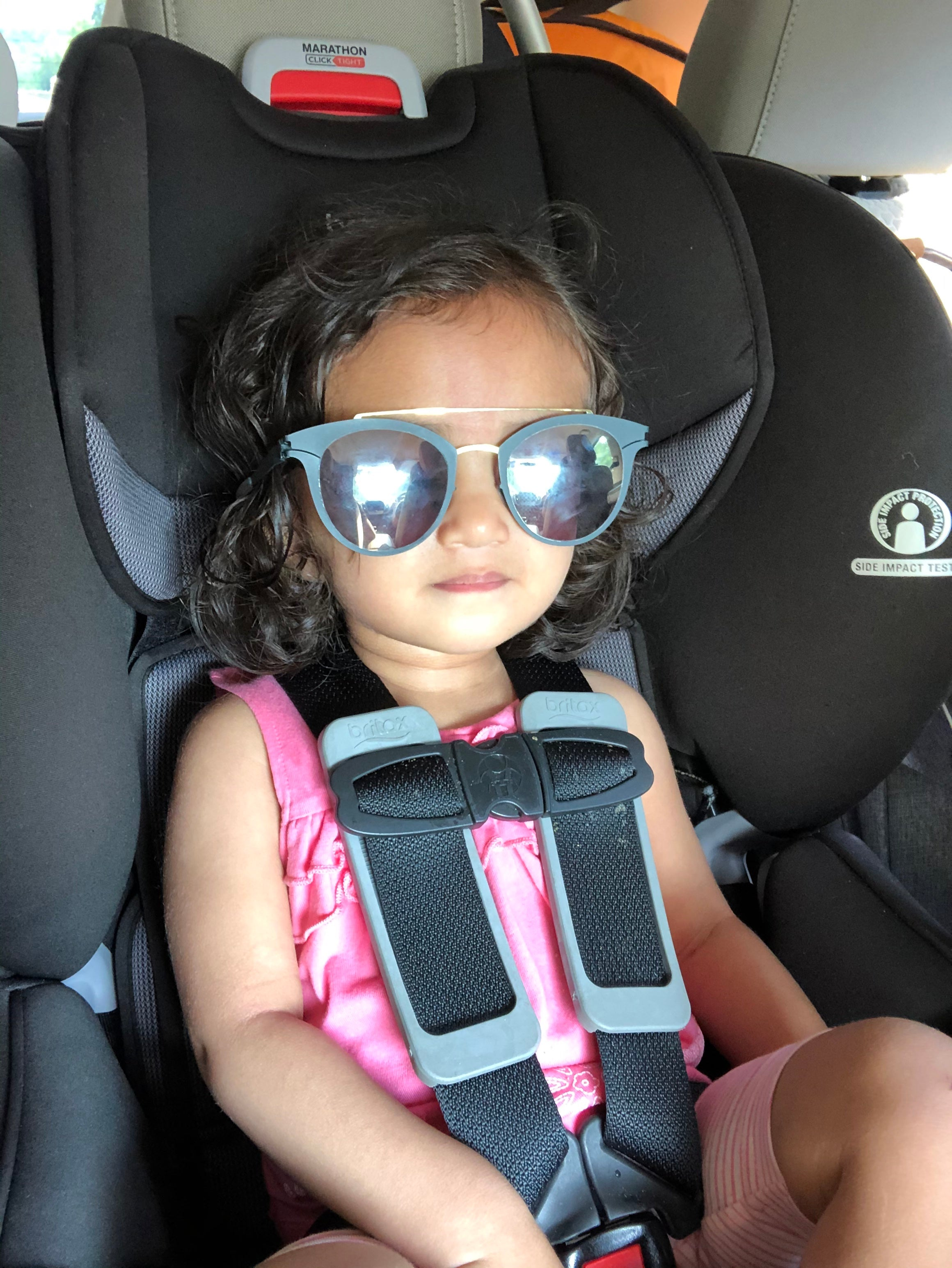 Properly buckled carseat safety