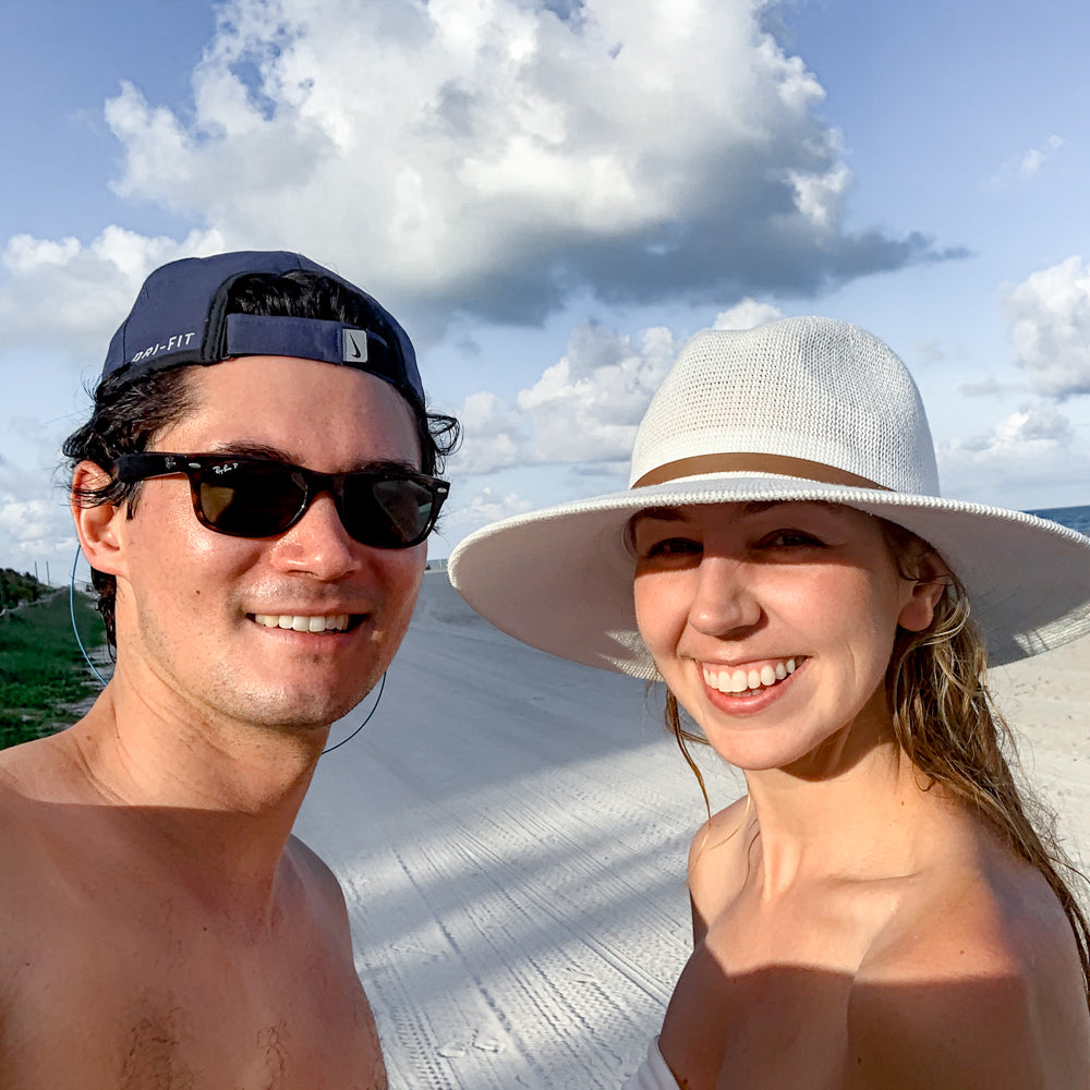Husband and wife vacation after dealing with infertility