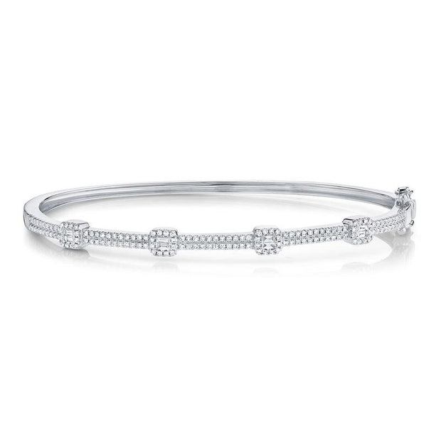 Diamond Bangle with Baguette