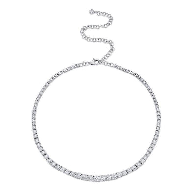 4.39CT DIAMOND TENNIS NECKLACE