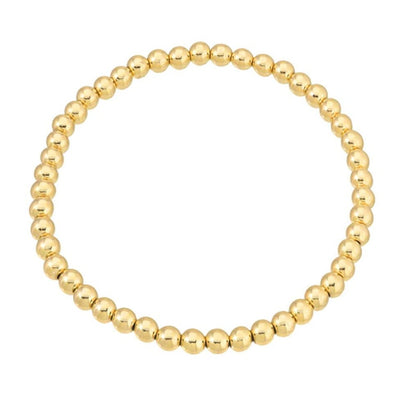 14k Gold Filled Beaded Bracelet 4mm
