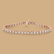 Diamond Tennis Bracelet 4.01Ct