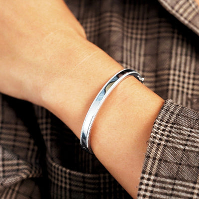 Diamond ID Bangle