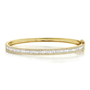 1.74 Ct Diamond Baguette Bangle
