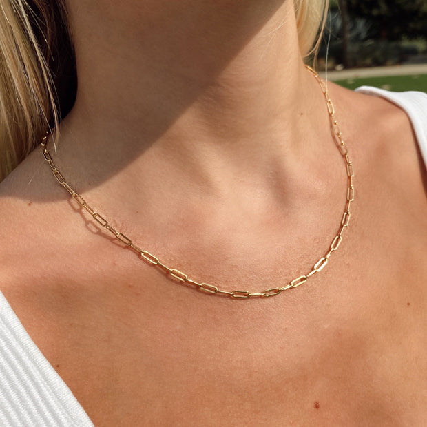 Gold Filled Link Necklace