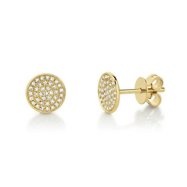 Round Diamond Pave Stud Earring
