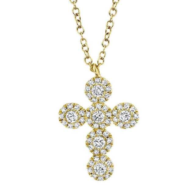Round Diamond Cross Necklace