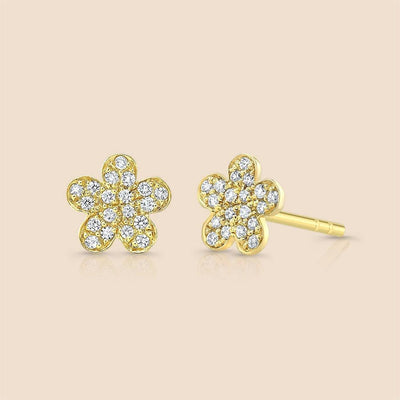 Flower Diamond Studs Earring