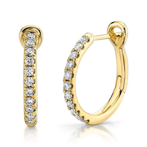 Diamond Lined Hoop Earrings