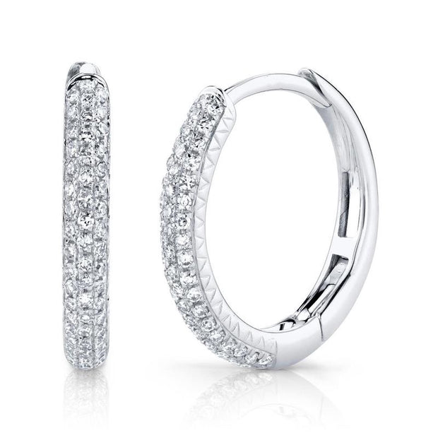 Diamond Pave Hoop Earring