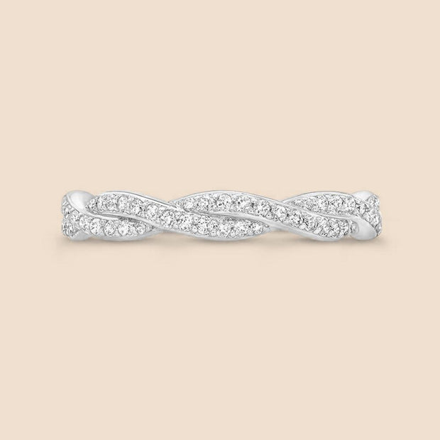 Intertwined Diamond Ring.