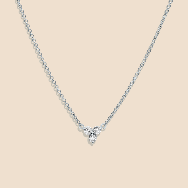 Lotus Diamond Necklace