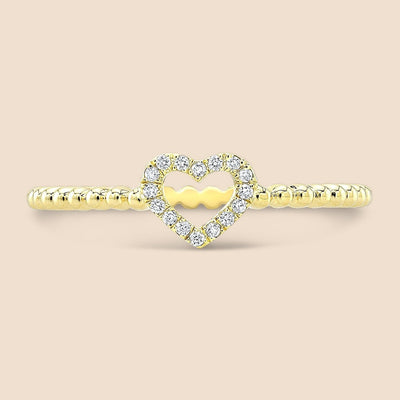 Lovie Beaded Diamond Ring.