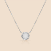 Diamond Pearl Necklace