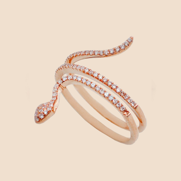 Diamond Serpent Ring