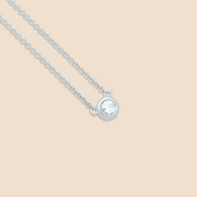 Solitaire Diamond Necklace.