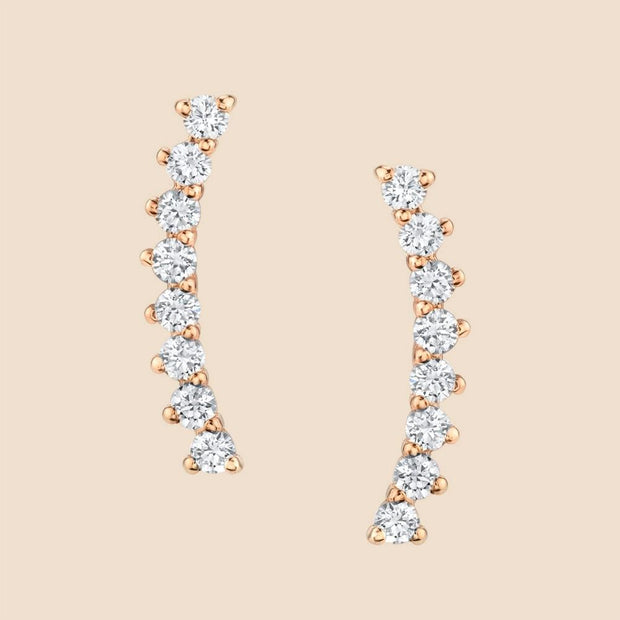 Upward Diamond Earrings