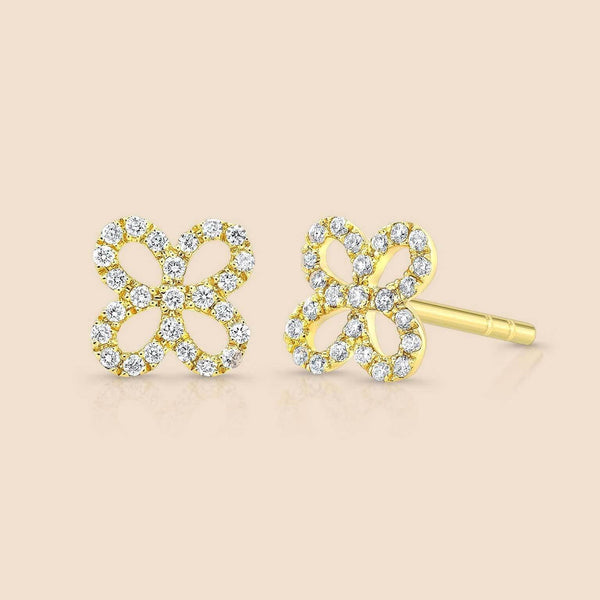 Wallflower Diamond Stud Earring