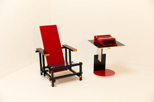 Mid century modern Red and Blue chair by Gerrit Thomas Rietveld