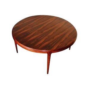 Circular Coffee Table in Rosewood by Johannes Anderson for CFC Silkeborg, 1960s