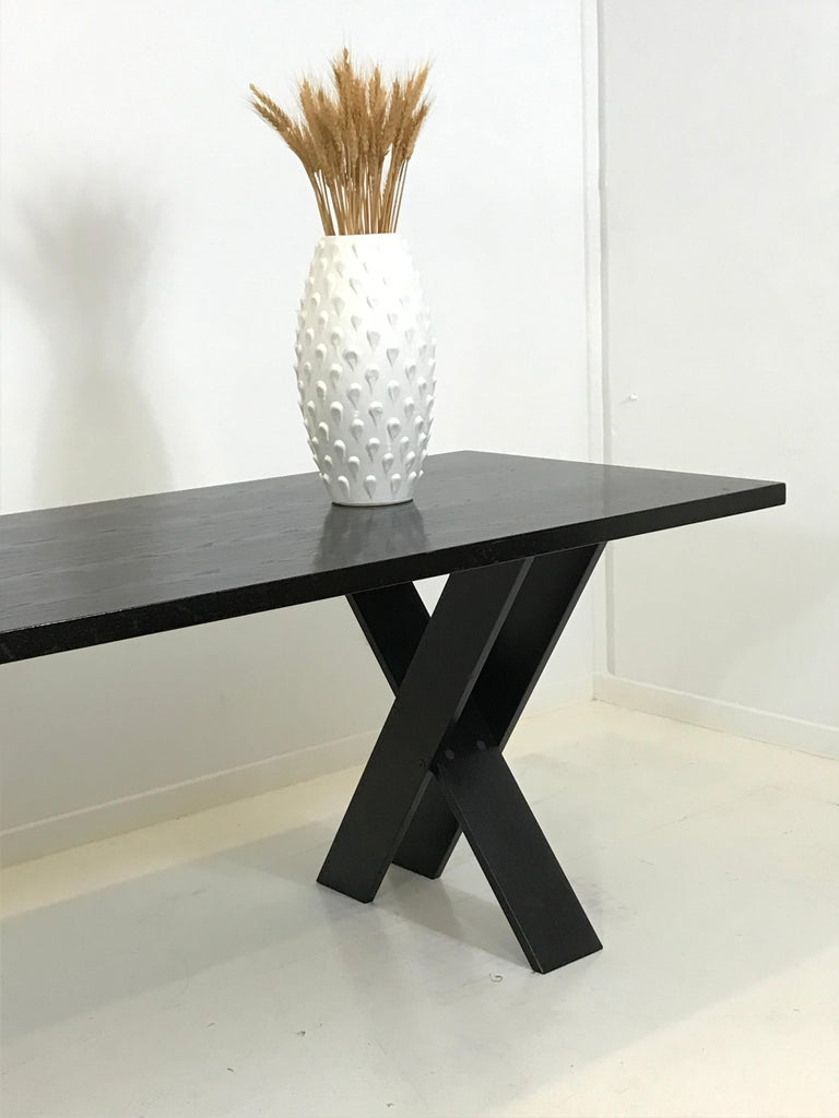 Mid-Century Modern TL 58 Black Dining Table by Marco Zanuso for Poggi, 1974