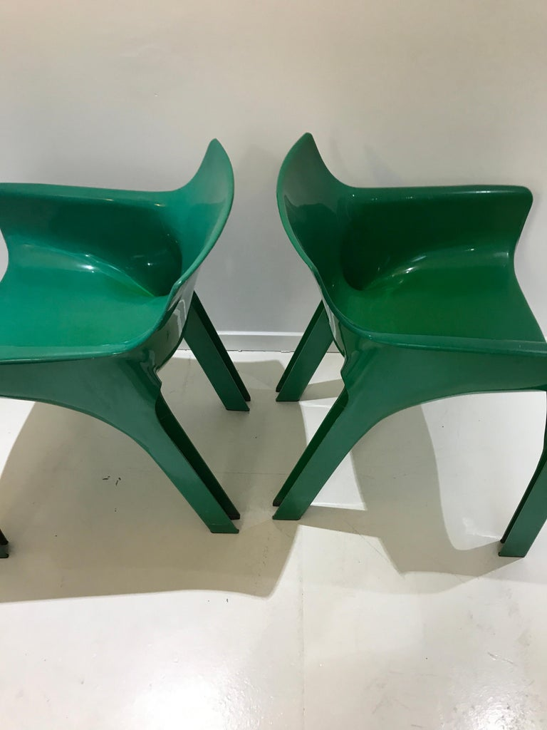 Italian Mid-Century Modern Gaudi Chairs by Vico Magistretti for Artemide, 1970s