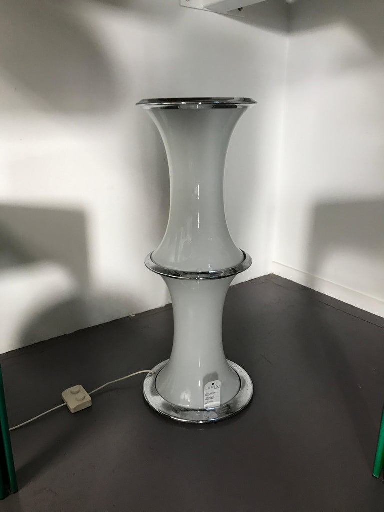 Italian Space Age Vistosi Floor Lamp in Murano Glass, 1970s