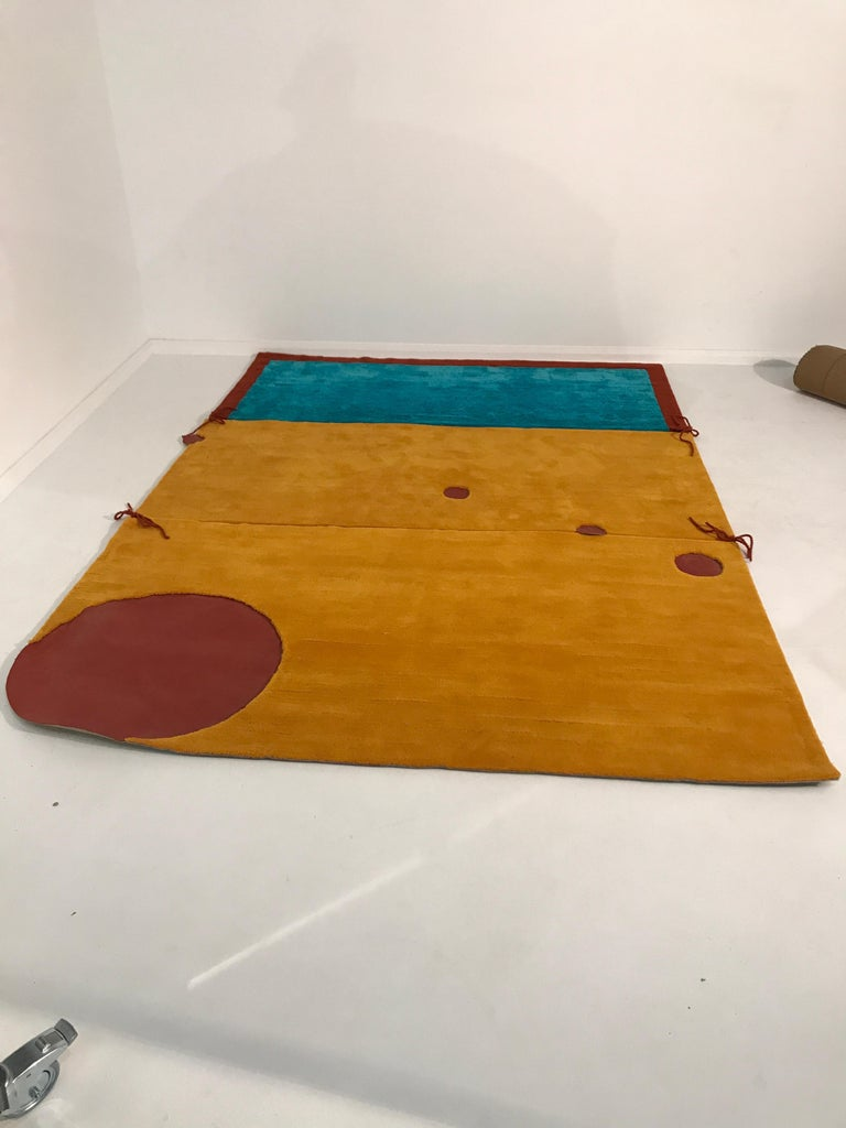 "Danish Rapsel Limited Edition ""Kuookabura"" Rug by Claude Picasso Son of Pablo"