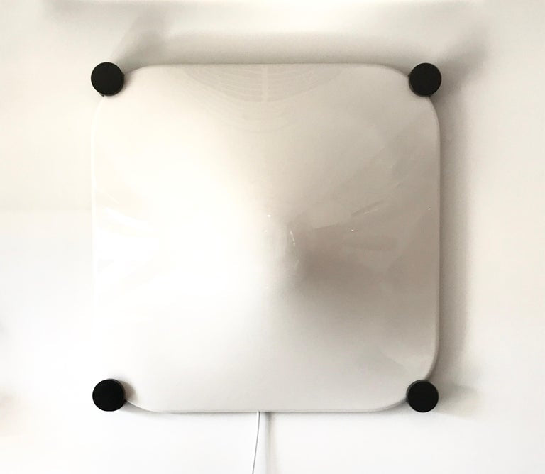 Italian Elio Martinelli Bolla Wall Light Acrylic and Metal, 1960s