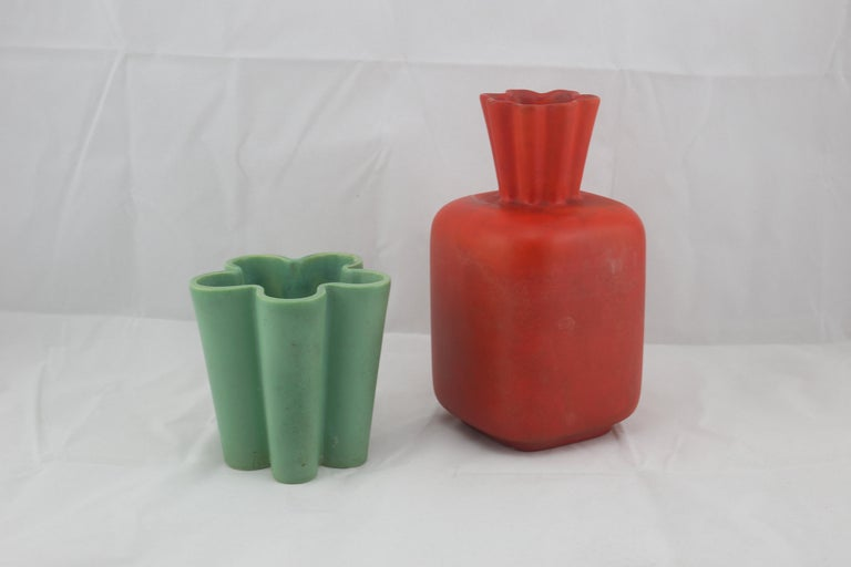 Richard Ginori for San Cristoforo Set of Two Vases by Giovanni Gariboldi, 1940s