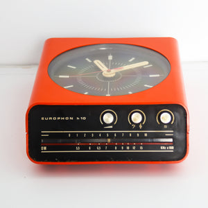 Orange HP10 Table Radio by Europhon Milano 1968